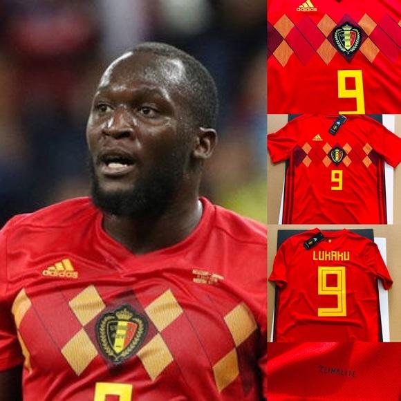 buy online fdc1a bb13a ⚽️ Belgium Soccer Jersey Lukaku #9 2018 World Cup NWT